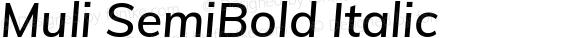 Muli SemiBold Italic