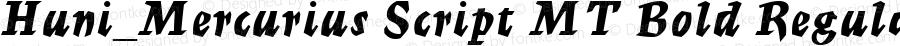 Huni_Mercurius Script MT Bold Regular 1.0, Rev. 1.65  1997.06.07