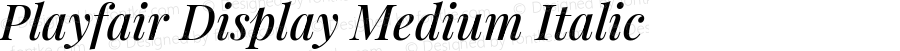 Playfair Display Medium Italic