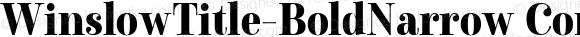 WinslowTitle-BoldNarrow Condensed