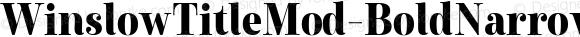 WinslowTitleMod-BoldNarrow Condensed