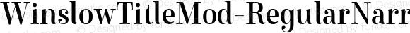 WinslowTitleMod-RegularNarrow Condensed