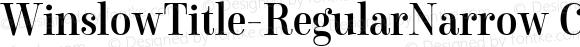 WinslowTitle-RegularNarrow Condensed