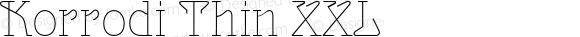 Korrodi Thin XXL