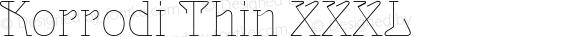 Korrodi Thin XXXL