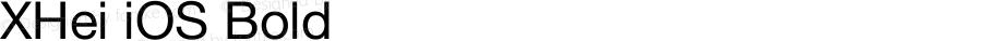 XHei iOS Bold XHei iOS - Version 6.0