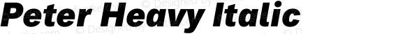 Peter Heavy Italic