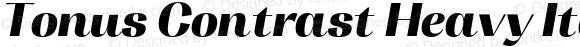 Tonus Contrast Heavy Italic