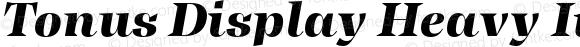 Tonus Display Heavy Italic