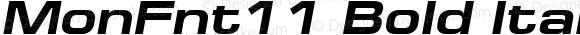 MonFnt11 Bold Italic