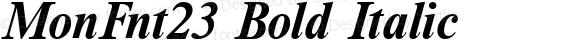 MonFnt23 Bold Italic