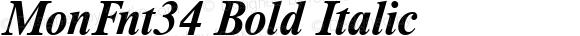 MonFnt34 Bold Italic