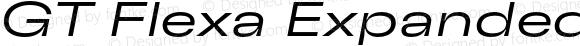 GT Flexa Expanded Light Italic