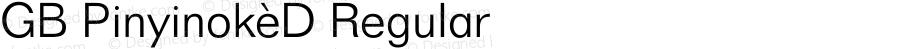 GB Pinyinok-D Regular 1.33