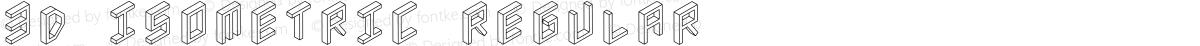 3D Isometric Regular