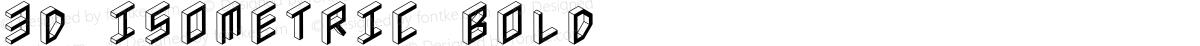 3D Isometric Bold