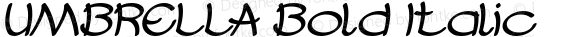 UMBRELLA Bold Italic