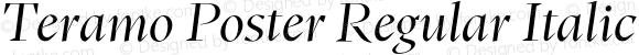 Teramo Poster Regular Italic