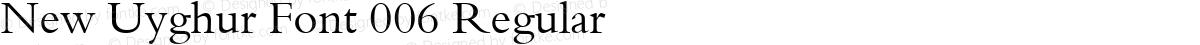 New Uyghur Font 006 Regular