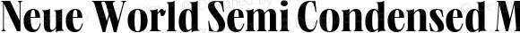 Neue World Semi Condensed Medium