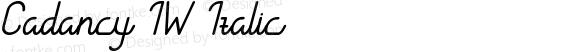 CadancyIW-Italic