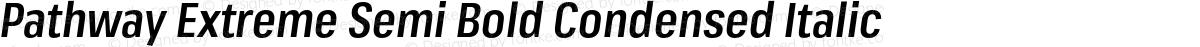 Pathway Extreme Semi Bold Condensed Italic
