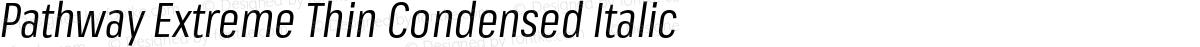 Pathway Extreme Thin Condensed Italic