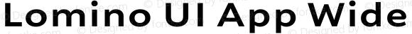 Lomino UI App Wide Bold