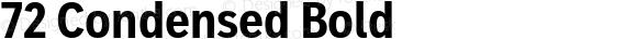 72 Condensed Bold