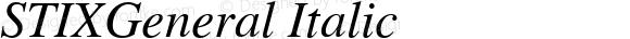 STIXGeneral Italic