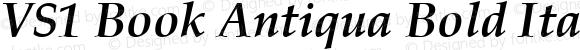 VS1 Book Antiqua Bold Italic