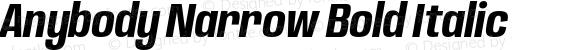 Anybody Narrow Bold Italic