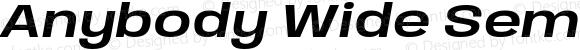 Anybody Wide SemiBold Italic