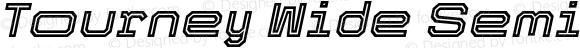Tourney Wide SemiBold Italic