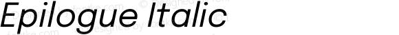 Epilogue Italic
