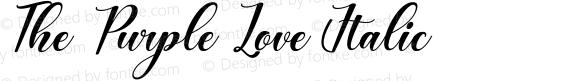 The Purple Love Italic