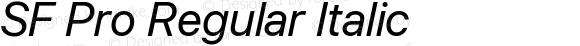 SF Pro Regular Italic