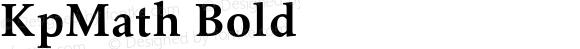 KpMath Bold