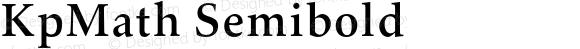 KpMath Semibold