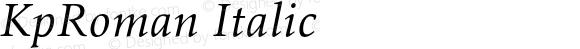 KpRoman Italic