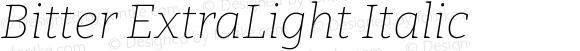 Bitter ExtraLight Italic