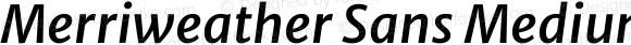 Merriweather Sans Medium Italic