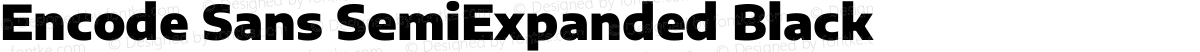 Encode Sans SemiExpanded Black