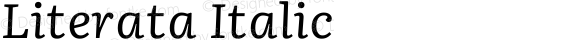 Literata Italic