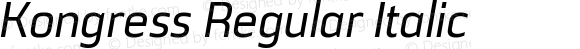 Kongress Regular Italic