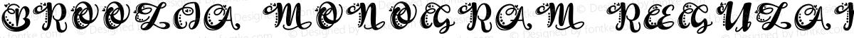 Broolia Monogram Regular