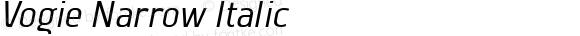 Vogie Narrow Italic