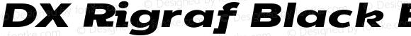 DX Rigraf Black Extra Expanded Italic