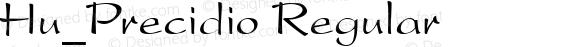Hu_Precidio Regular 1.0,  Rev. 1.65.  1997.06.17