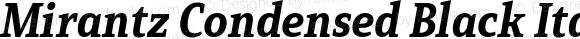 Mirantz Condensed Black Italic